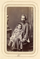 Armenian Jew and child (of Calcutta).